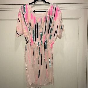 NWT Shoshanna Stefi pink with sequin accent dress